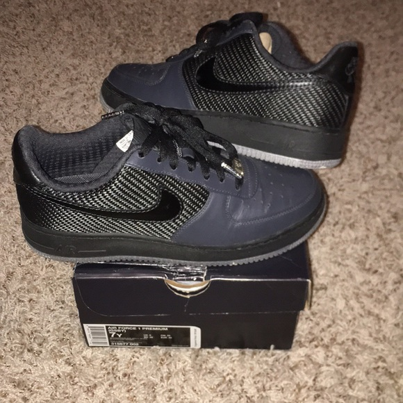 Nike premium Air Force 1. Blackgrey